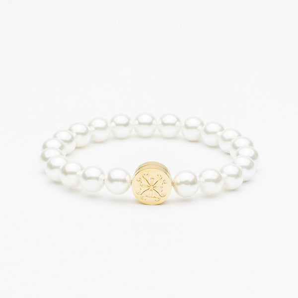 Stephanie Pearl Bead White/Gold