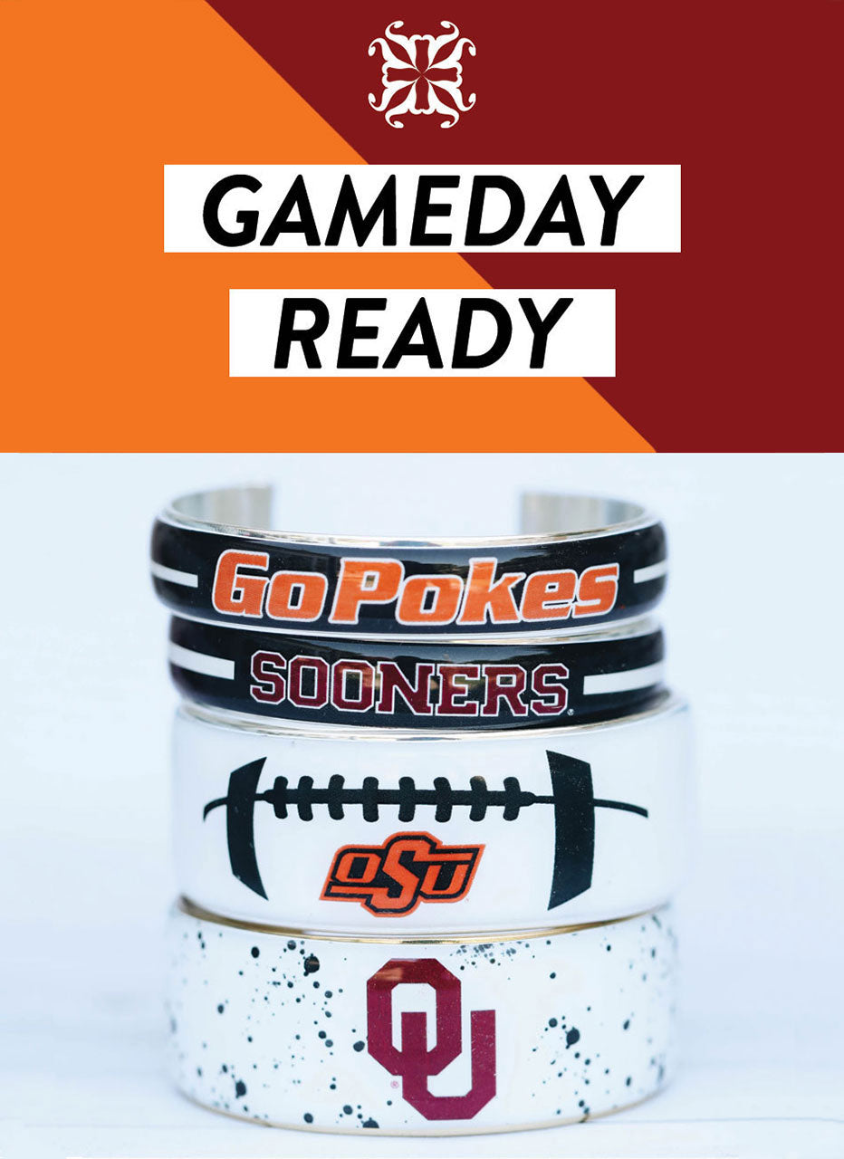 Collegiate Bracelets | Rustic Cuff Game Day