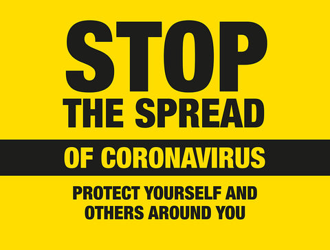 BO1A External Signage - Stop the spread of Coronavirus