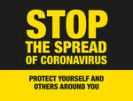 BO2A External Signage - Stop the spread of Coronavirus