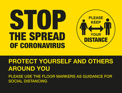 BO3A External Signage - Stop the spread of Coronavirus