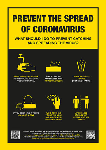 CVB1 Hygiene Poster - Prevent the spread of Coronavirus poster