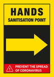 CVB6 Hygiene Poster - Hand Sanitisation Point Right Arrow Poster