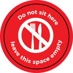 FS31 Internal, Carpet, External & Tarmac Floor Sticker 'Do Not Sit Here''