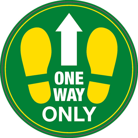 FS22 Internal, Carpet, External & Tarmac Floor Sticker 'One Way Only'