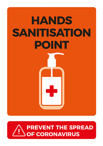 CVA4 Hygiene Poster - Hand Sanitisation Point Poster