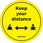 FS27 Internal, Carpet, External & Tarmac Floor Sticker 'Keep your distance'