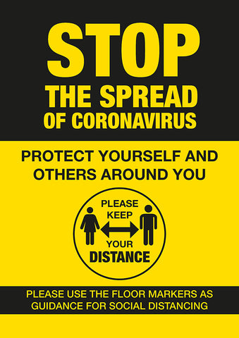 PO1 Hygiene Poster -STOP the spread of Coronavirus poster