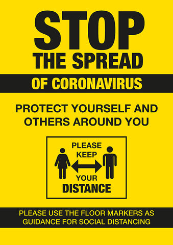 PO3 Hygiene Poster -STOP the spread, protect yourself and others poster