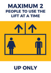 LP11 Lift Safety Poster -  2 People at One Time Poster UP ONLY