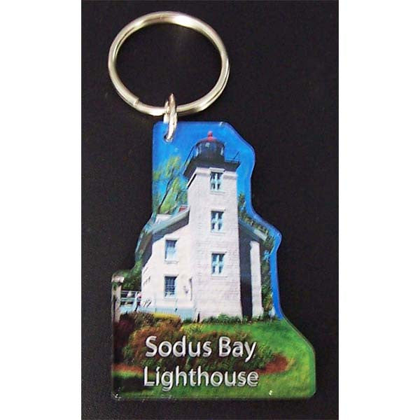 Sodus Bay Lighthouse Acrylic Key Chain