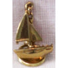 Brass Sailboat Key Ring