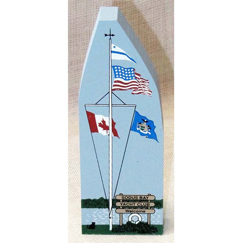 Cat's Meow--Flags at the Sodus Bay Yacht Club