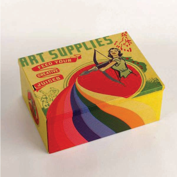 Cigar Box--Art Supplies