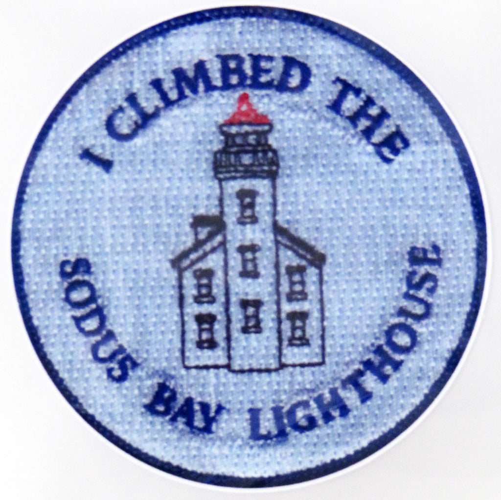 "Sticker:  ""I Climbed the Sodus Bay Lighthouse"""