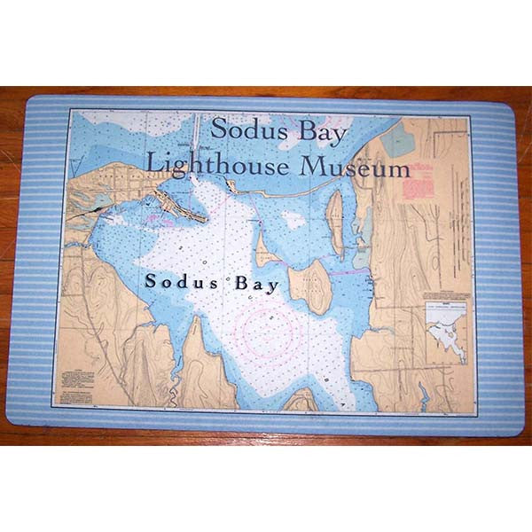 Sodus Bay Chart Art Floor Mat