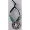 Silver Lighthouse Ornament--Green Ribbon