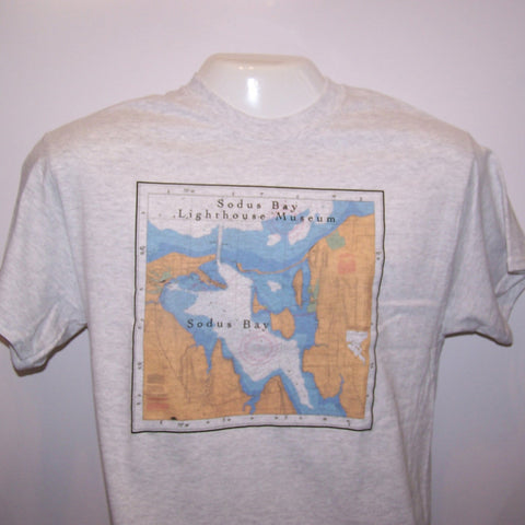 Sodus Bay Chart Art T-Shirt