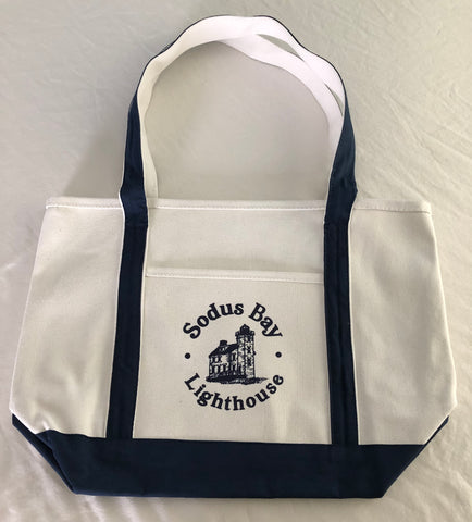 Heavy Cotton Canvas Boat Tote Bag with Zipper