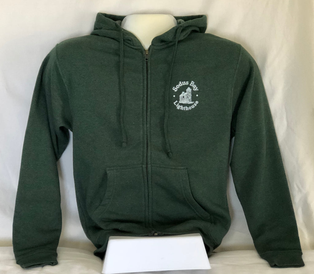 Hoodie, Zippered, Heavy-weight, Poly/cotton Blend