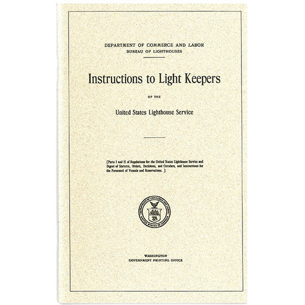 Instructions to Light Keepers Booklet