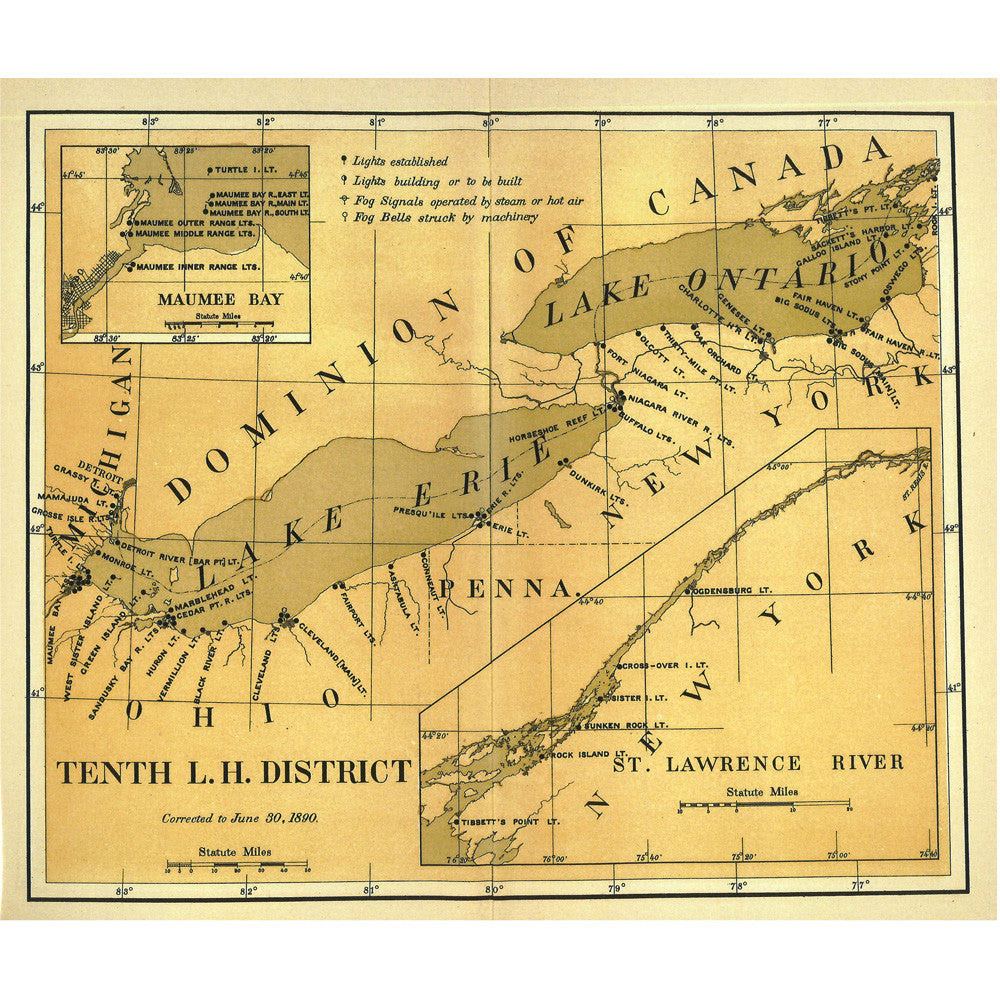 Tenth District Lighthouse Map