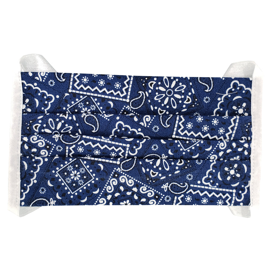Blue Paisley Kids Face Mask