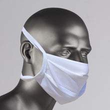 Load image into Gallery viewer, White Washable Cotton Face Mask Made in USA - white washable mask for purchase online