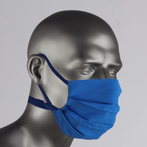 Deep Blue Cotton Over The Ear Face Mask