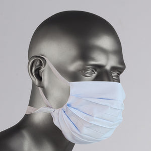 Blue Gray Cotton Over The Ear Face Mask