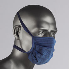 Load image into Gallery viewer, Navy Check Cotton Face Mask