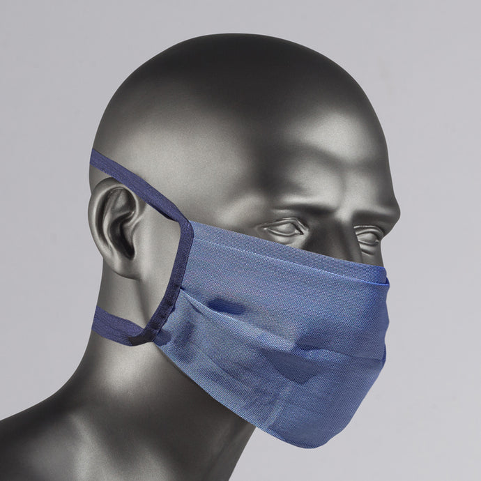 navy cotton face-mask