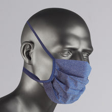 Load image into Gallery viewer, Navy & White Patterned Cotton Face Mask