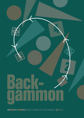 Backgammon Galaxy, Vintage backgammon poster, direction