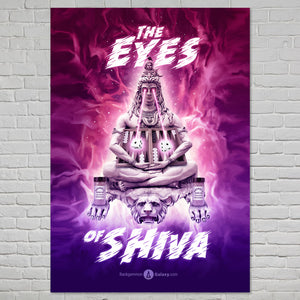 "Original ""Eyes of Shiva"" Backgammon Poster - Backgammon Galaxy"