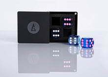 "Load image into Gallery viewer, Dice Box M-4, may hold 4 dice sized 14mm-9/16"" (dice not included) - Backgammon Galaxy"