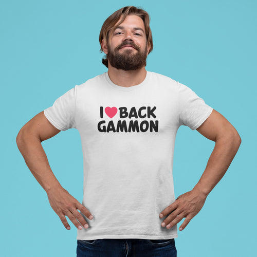 I Love Backgammon, Unisex T-shirt - Backgammon Galaxy