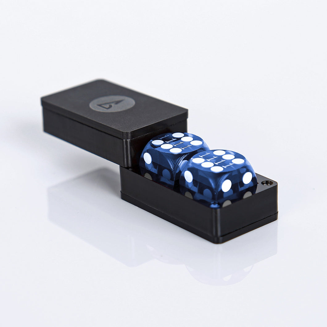 "Dice Box S-1, may hold 2 dice sized 14mm-9/16"" (dice not included) - Backgammon Galaxy"