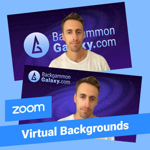 FREE: 2 Backgammon ZOOM Virtual Wallpapers - Backgammon Galaxy