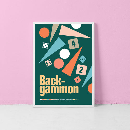 Vintage Backgammon Deluxe Poster - Backgammon Galaxy