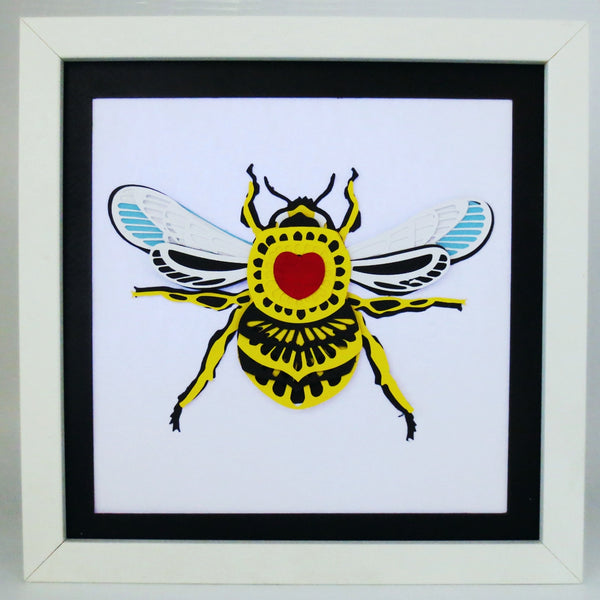 Bee 3D papercut digital download
