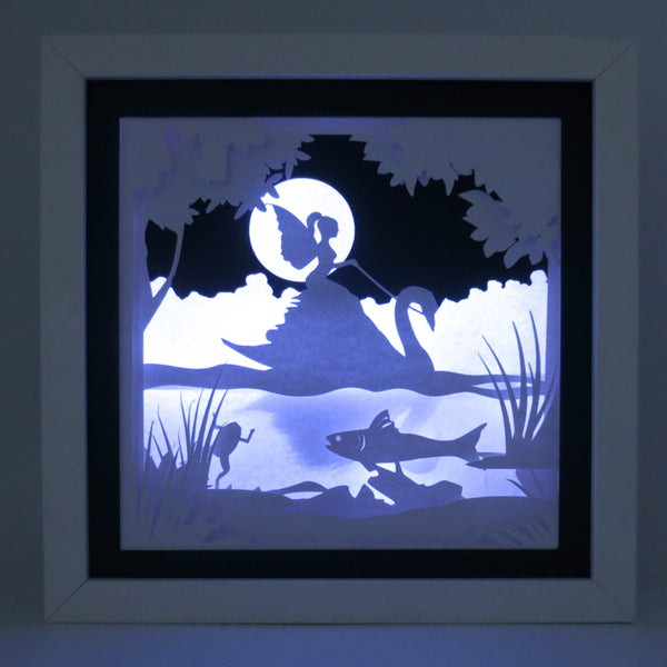 Swan Fairy 3D papercut Digital download file