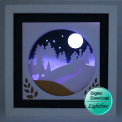 Homeward bound 3D papercut Digital download file