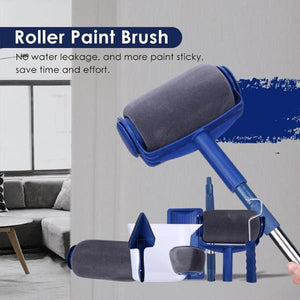 Paint Roller Brush Painting Handle Tool! - 5 PCS(ROLLER PAINT PRO +FLOCKED EDGER +CORNER PAD +RESTING TRAY +EASY-POUR-JUG) - Smart Widget