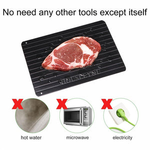 Magic Defrost Metal Plate Defrosting Tray Safe Fast Frozen Meat - Smart Widget