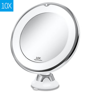 10X Magnifying LED Makeup Shaving Mirror - Smart Widget