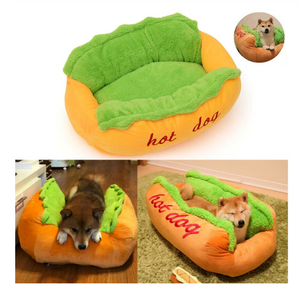 Pet House Funny Hot Dog Bed Winter Warm Puppy Cat Soft Sleeping Mat Creative Fashion Sofa Cushion Supplies Dogs - Smart Widget