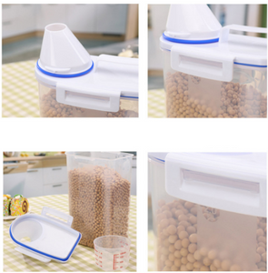 2L High Quality Plastic Cereal Dispenser Portable Storage Box Kitchen Food Grain Rice Container - Smart Widget