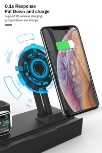 8 in 1 10W QI Wireless Charger Station For iPhone and Airpods - Smart Widget