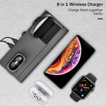 Load image into Gallery viewer, 8 in 1 10W QI Wireless Charger Station For iPhone and Airpods - Smart Widget